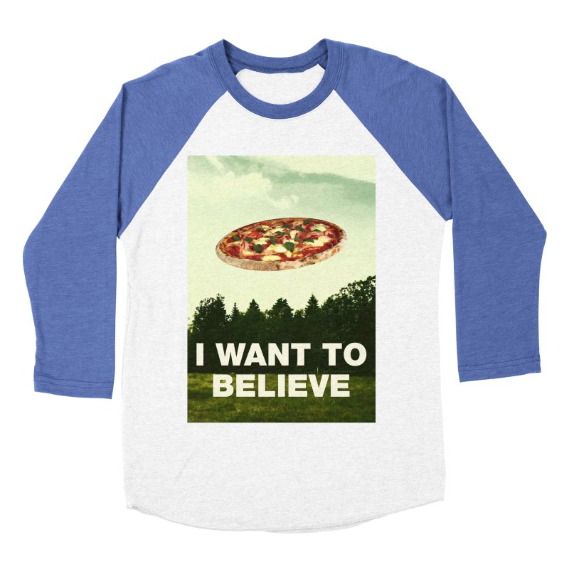 I WANT TO BELIEVE Men's Baseball Triblend T-Shirt by miskel's Shop