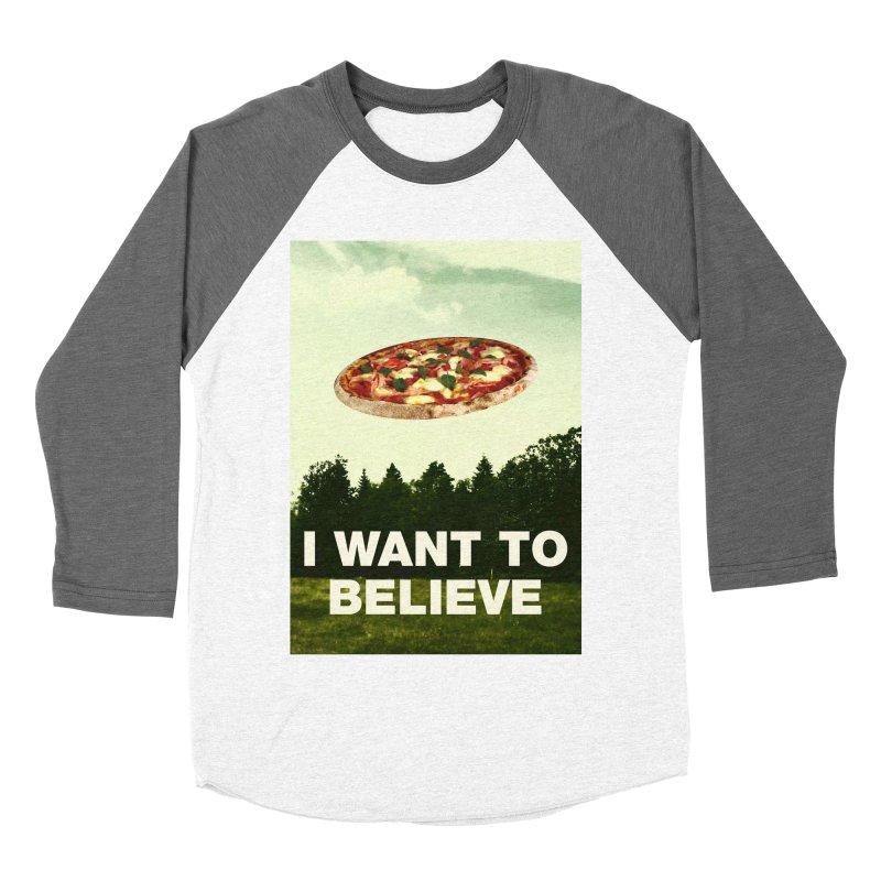 I WANT TO BELIEVE Men's Baseball Triblend Longsleeve T-Shirt by miskel's Shop