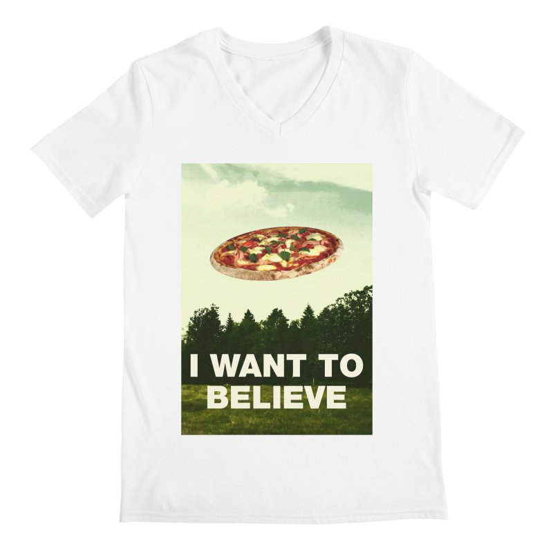 I WANT TO BELIEVE Men's V-Neck by miskel's Shop