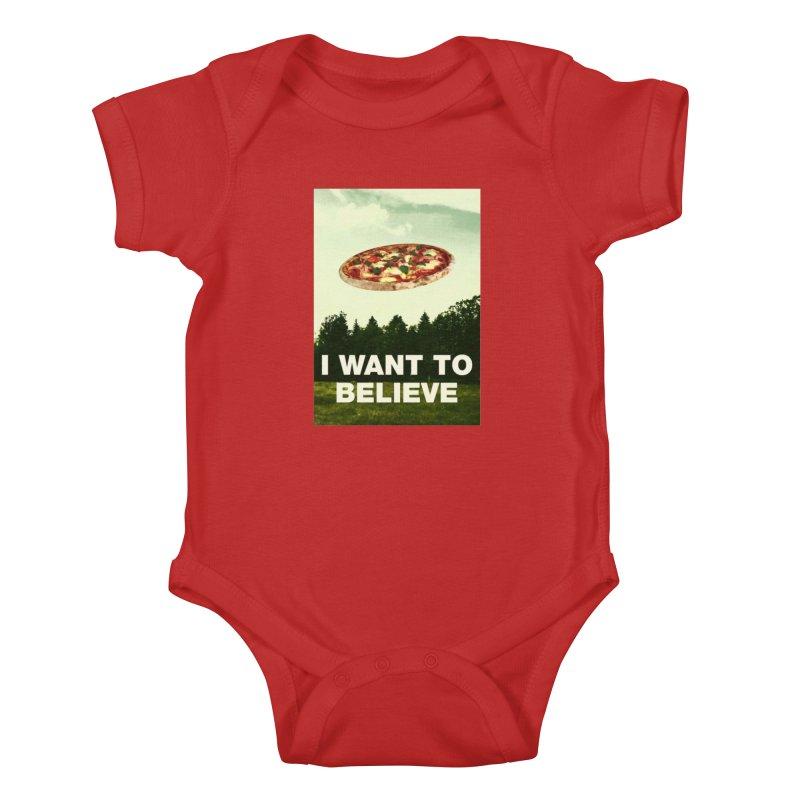 I WANT TO BELIEVE Kids Baby Bodysuit by miskel's Shop