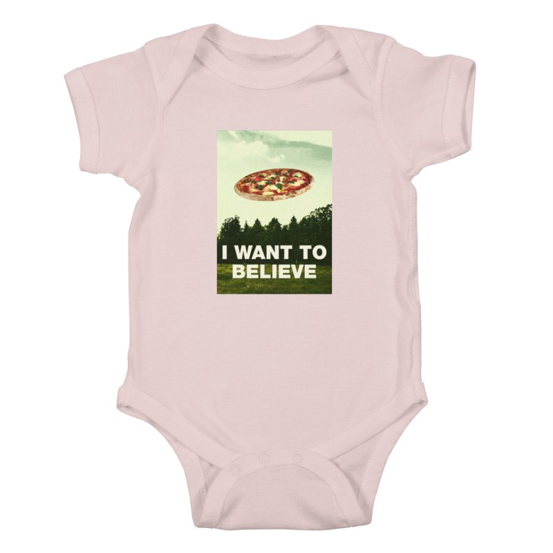 I WANT TO BELIEVE Kids Baby Bodysuit by miskel's Shop