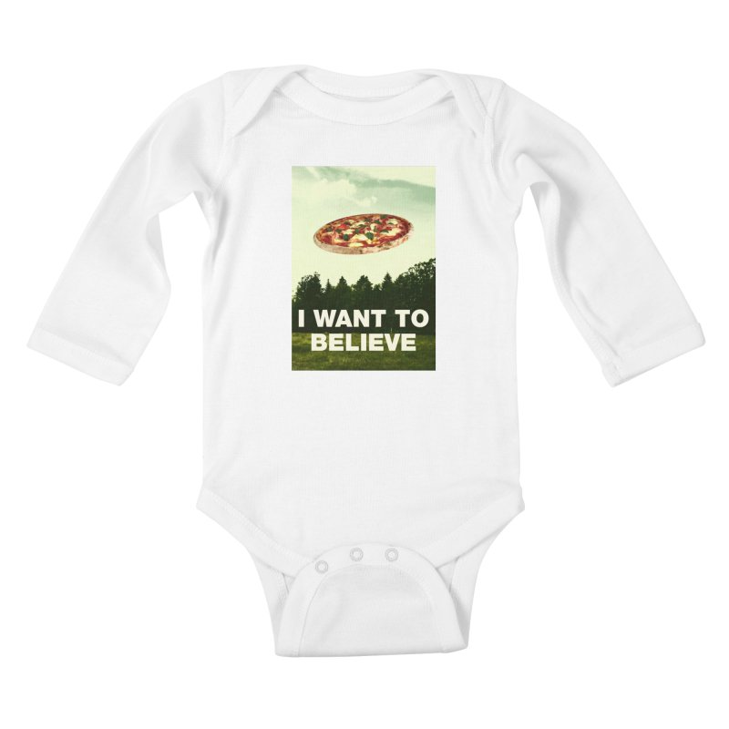 I WANT TO BELIEVE Kids Baby Longsleeve Bodysuit by miskel's Shop
