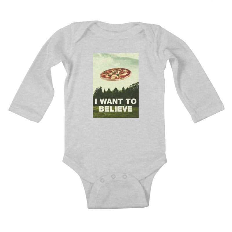 I WANT TO BELIEVE Kids Baby Longsleeve Bodysuit by miskel's Shop