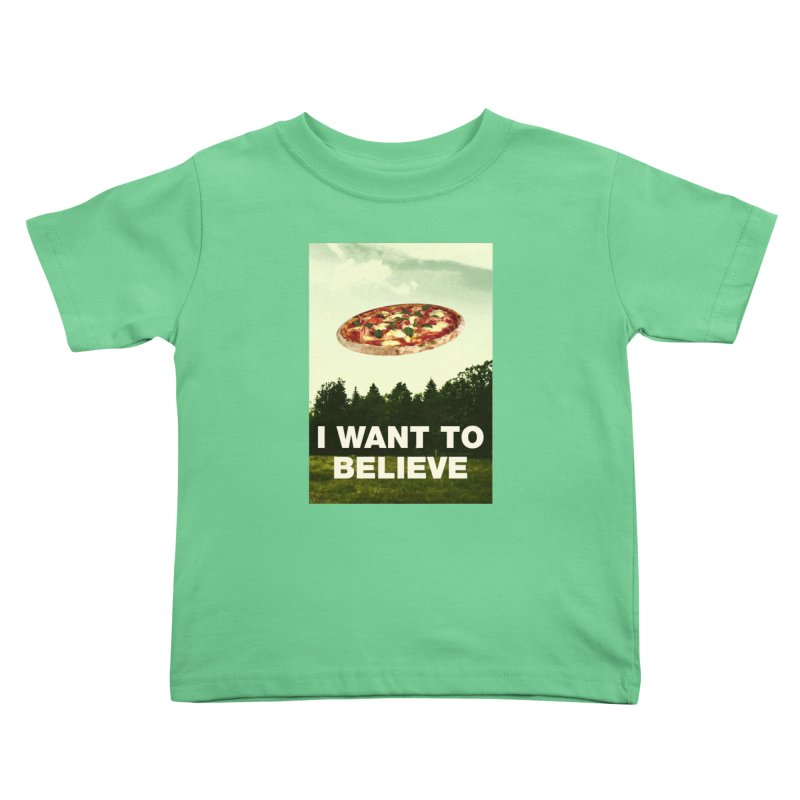 I WANT TO BELIEVE Kids Toddler T-Shirt by miskel's Shop