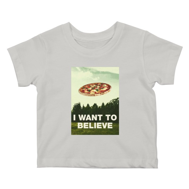 I WANT TO BELIEVE Kids Baby T-Shirt by miskel's Shop