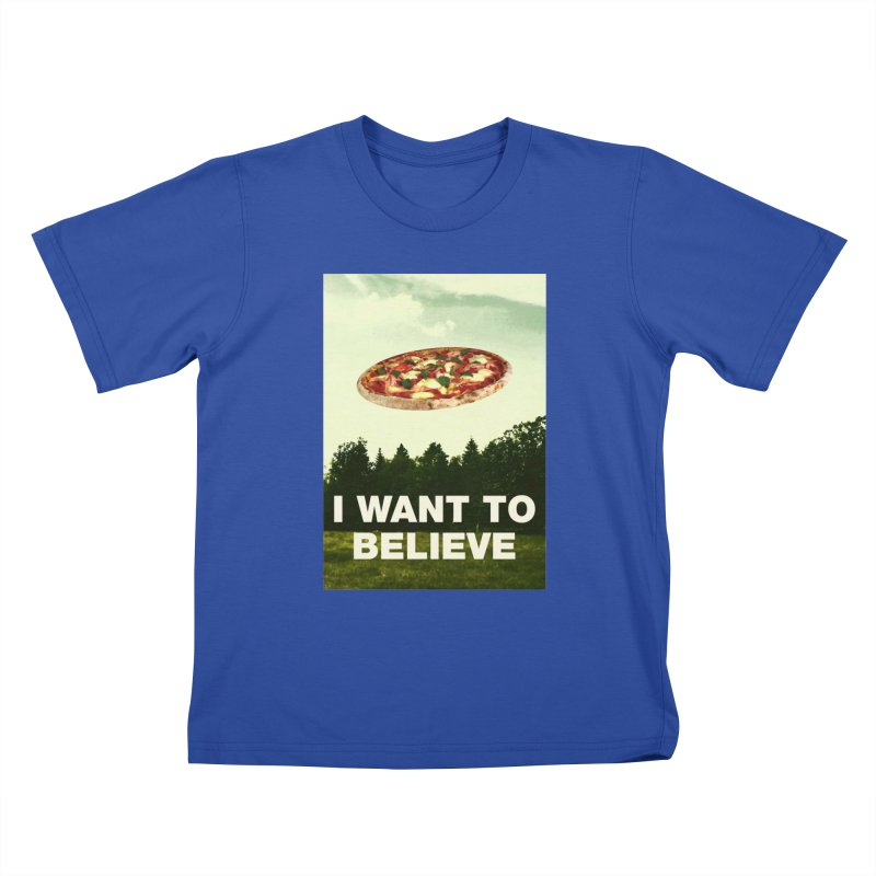 I WANT TO BELIEVE Kids T-Shirt by miskel's Shop