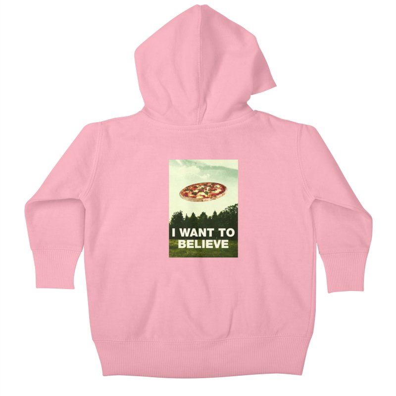 I WANT TO BELIEVE Kids Baby Zip-Up Hoody by miskel's Shop
