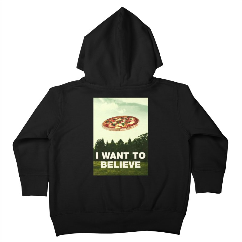 I WANT TO BELIEVE Kids Toddler Zip-Up Hoody by miskel's Shop