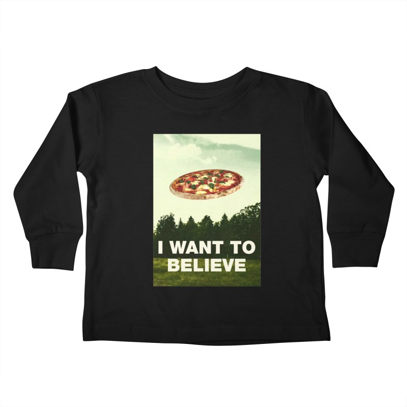 I WANT TO BELIEVE Kids Toddler Longsleeve T-Shirt by miskel's Shop
