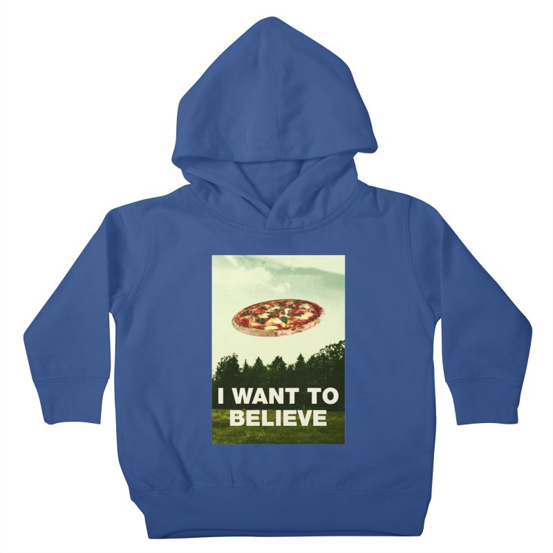 I WANT TO BELIEVE Kids Toddler Pullover Hoody by miskel's Shop