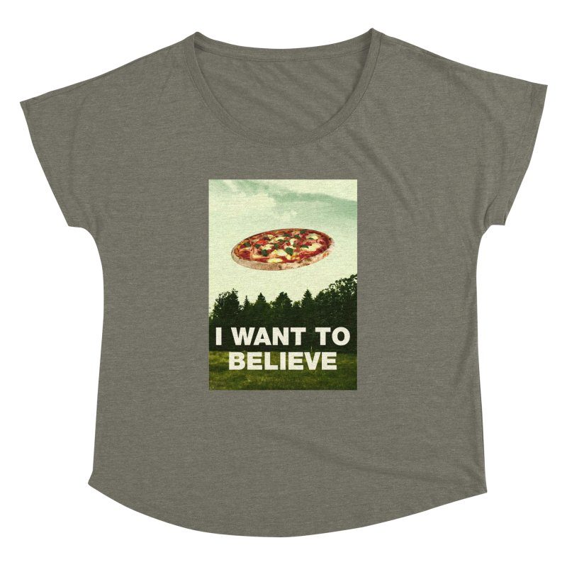I WANT TO BELIEVE Women's Dolman Scoop Neck by miskel's Shop