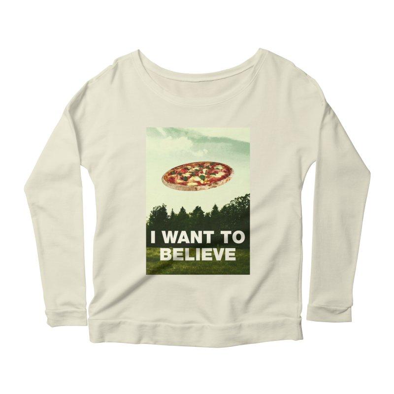 I WANT TO BELIEVE Women's Scoop Neck Longsleeve T-Shirt by miskel's Shop