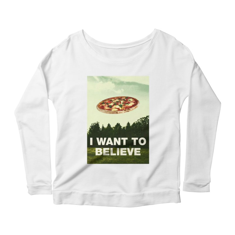 I WANT TO BELIEVE Women's Longsleeve T-Shirt by miskel's Shop