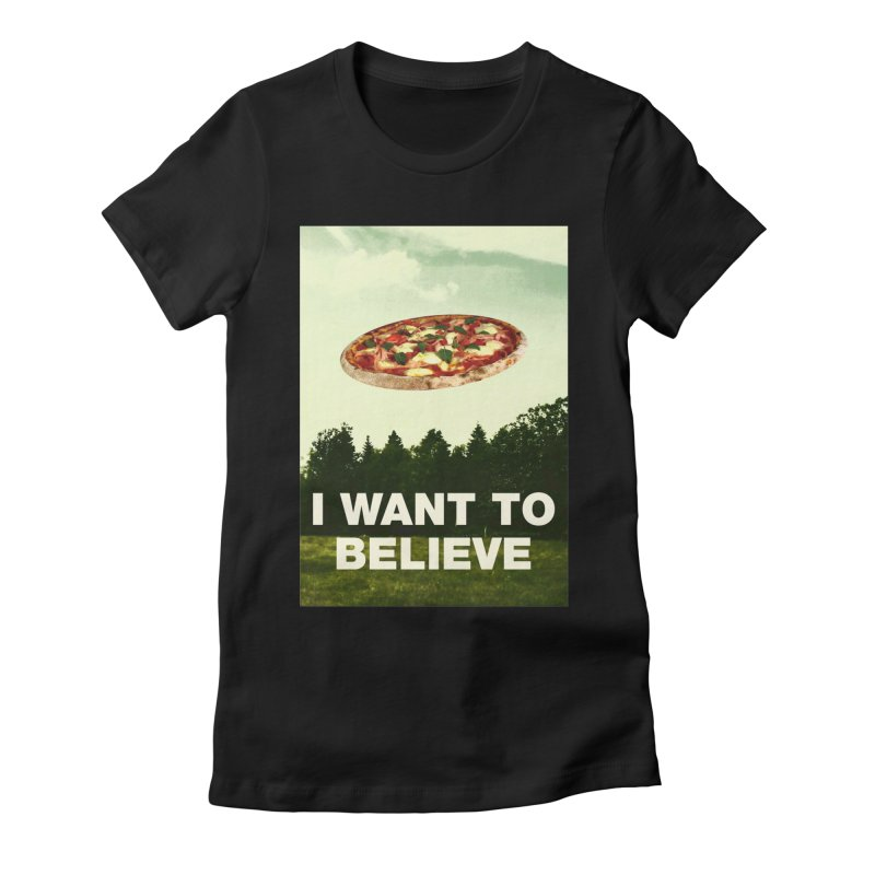 I WANT TO BELIEVE Women's Fitted T-Shirt by miskel's Shop