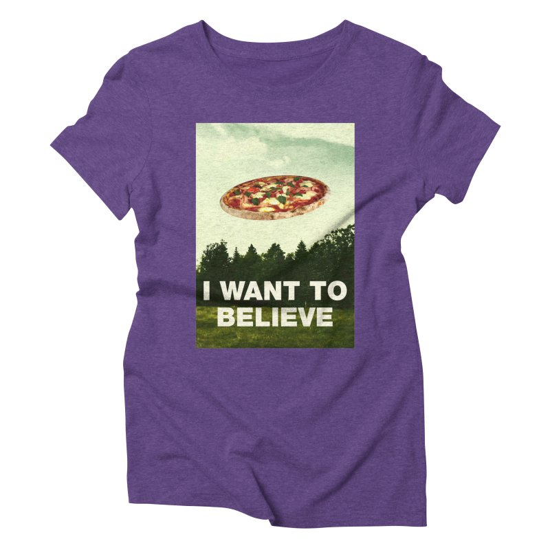 I WANT TO BELIEVE Women's Triblend T-Shirt by miskel's Shop