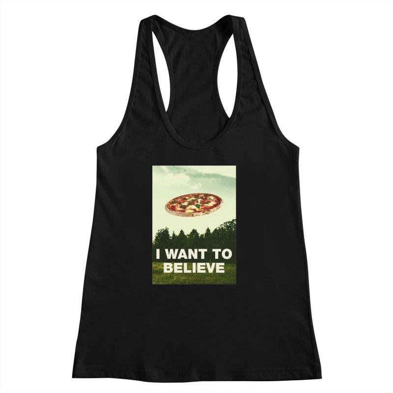 I WANT TO BELIEVE Women's Racerback Tank by miskel's Shop