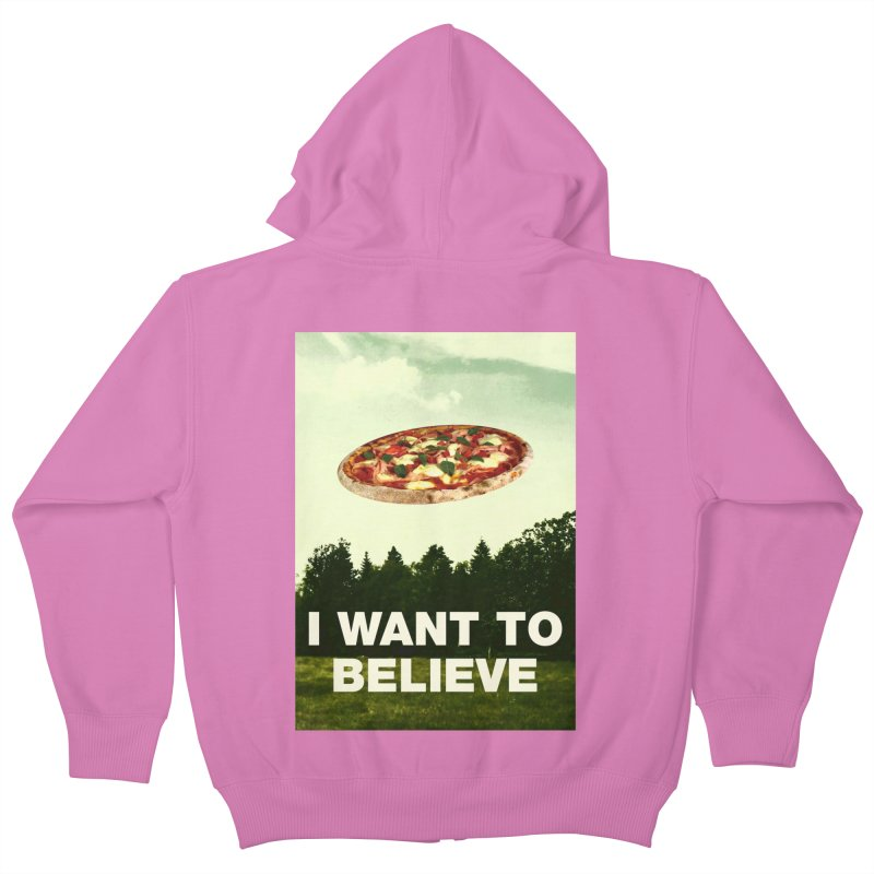 I WANT TO BELIEVE Kids Zip-Up Hoody by miskel's Shop