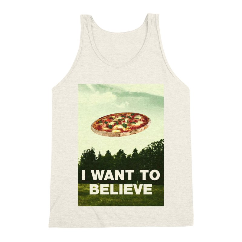 I WANT TO BELIEVE Men's Triblend Tank by miskel's Shop