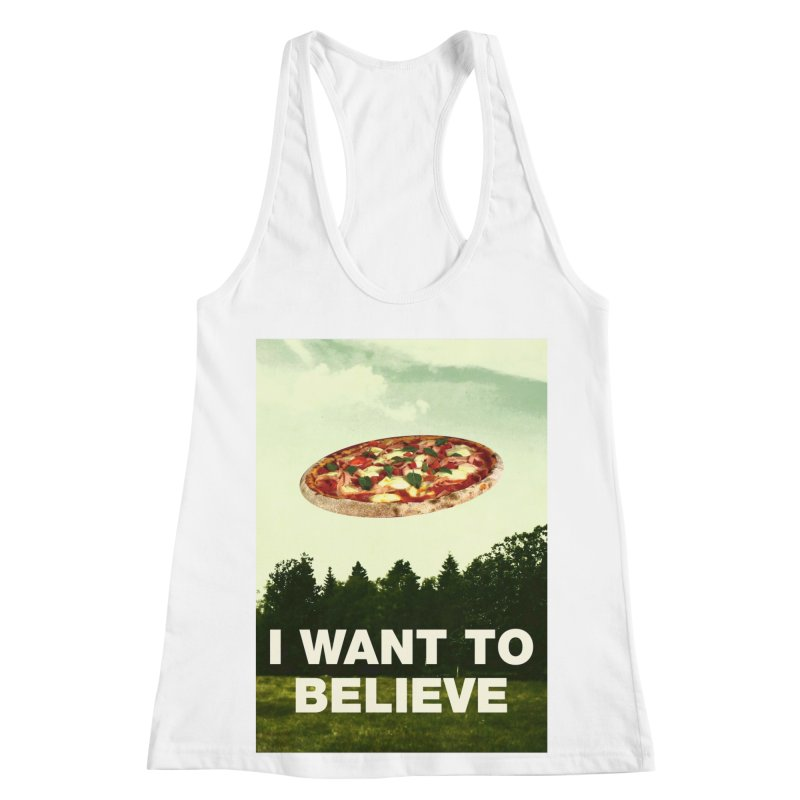 I WANT TO BELIEVE Women's Racerback Tank by miskel's Shop