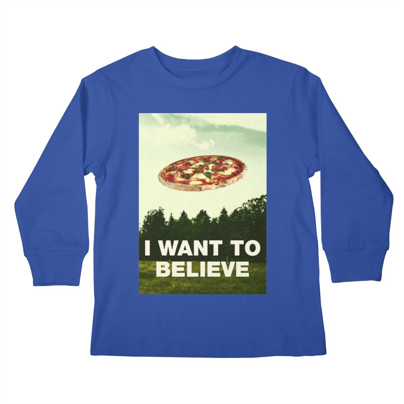 I WANT TO BELIEVE Kids Longsleeve T-Shirt by miskel's Shop