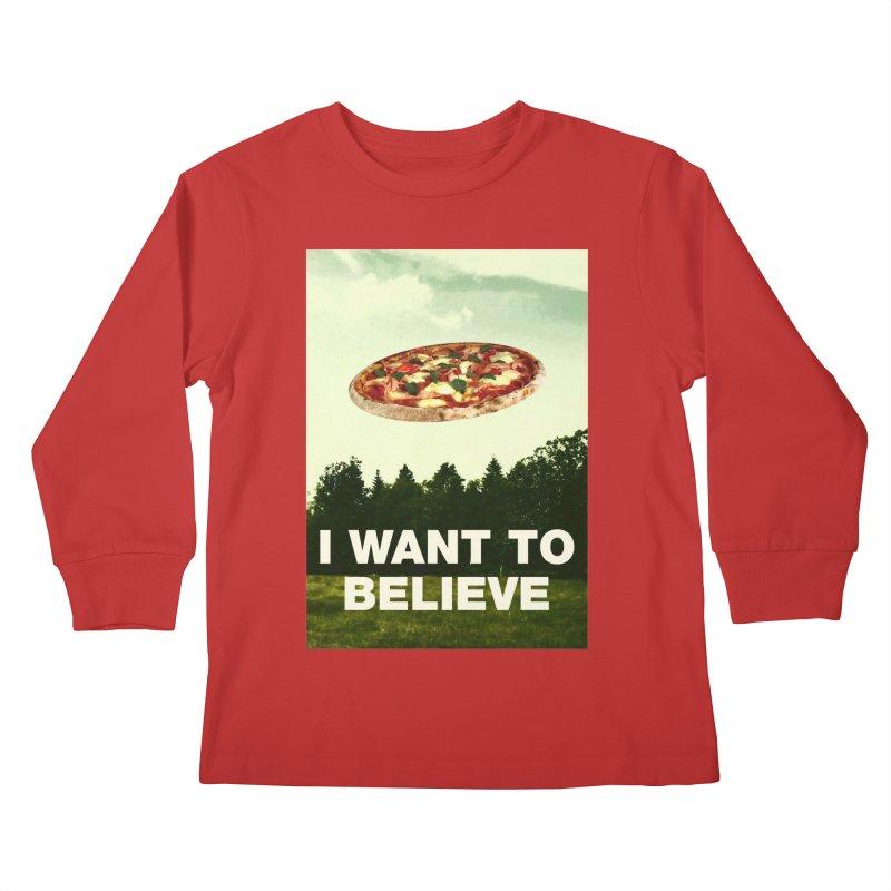 I WANT TO BELIEVE Kids Longsleeve T-Shirt by miskel's Shop