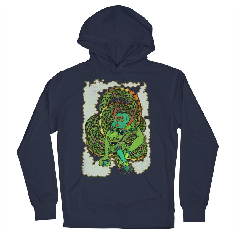 DRAGON BONG Men's French Terry Pullover Hoody by miskel's Shop