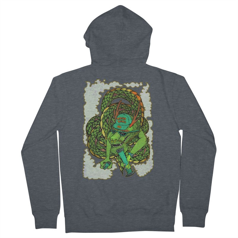 DRAGON BONG Women's Zip-Up Hoody by miskel's Shop
