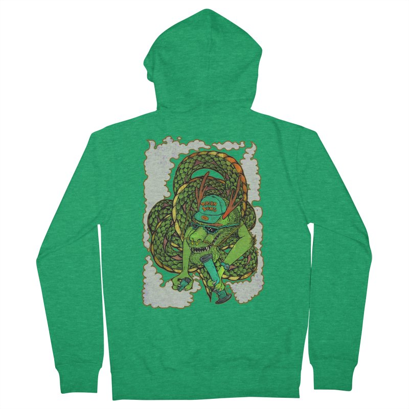 DRAGON BONG Men's Zip-Up Hoody by miskel's Shop