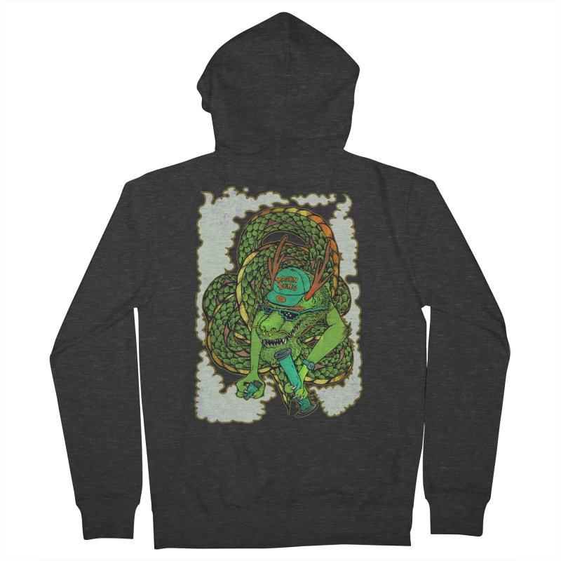 DRAGON BONG Men's French Terry Zip-Up Hoody by miskel's Shop