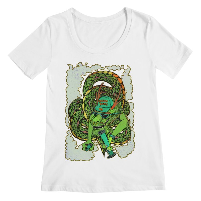 DRAGON BONG Women's Regular Scoop Neck by miskel's Shop