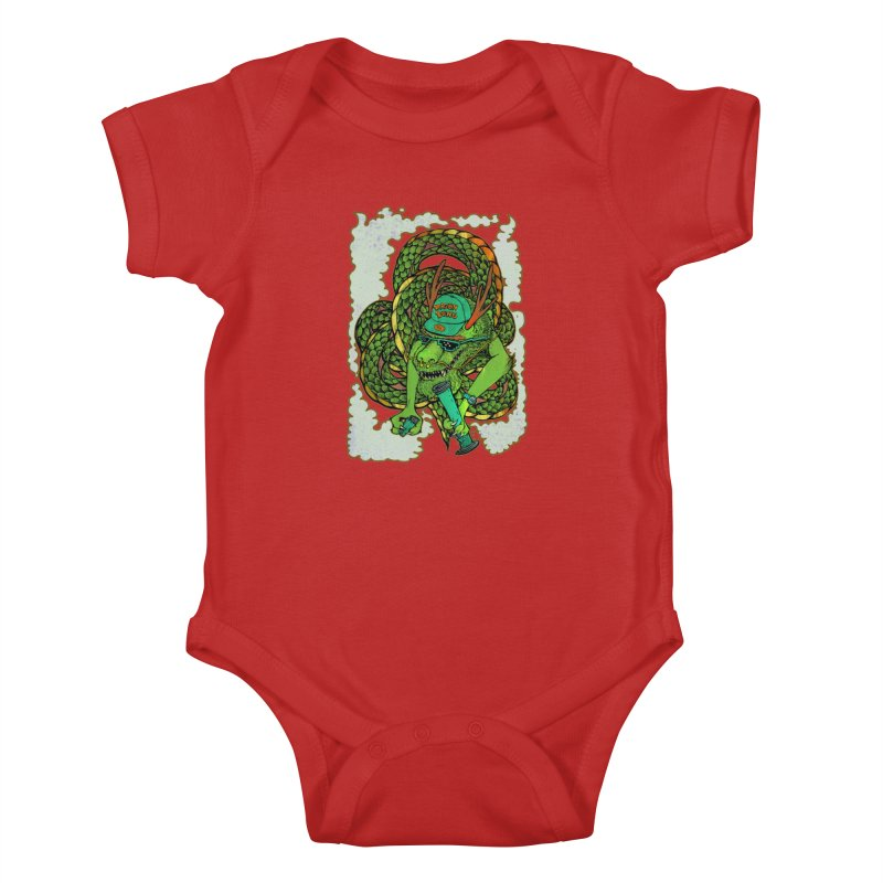 DRAGON BONG Kids Baby Bodysuit by miskel's Shop