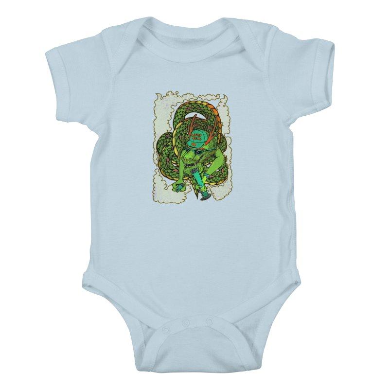 DRAGON BONG Kids Baby Bodysuit by miskel's Shop
