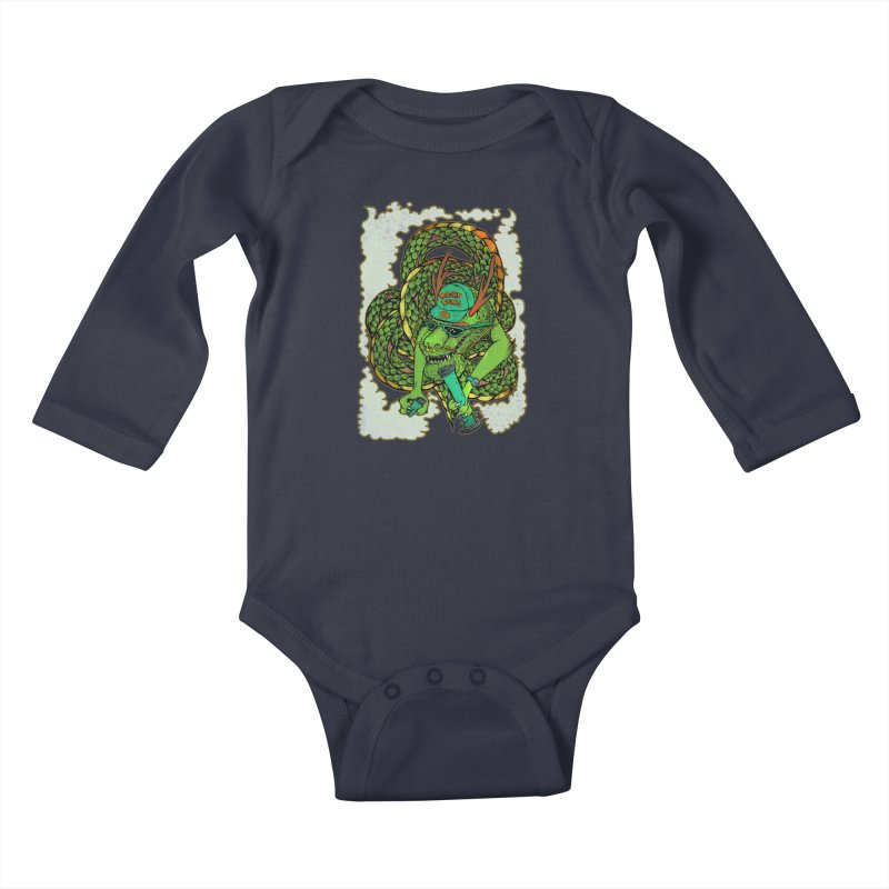 DRAGON BONG Kids Baby Longsleeve Bodysuit by miskel's Shop