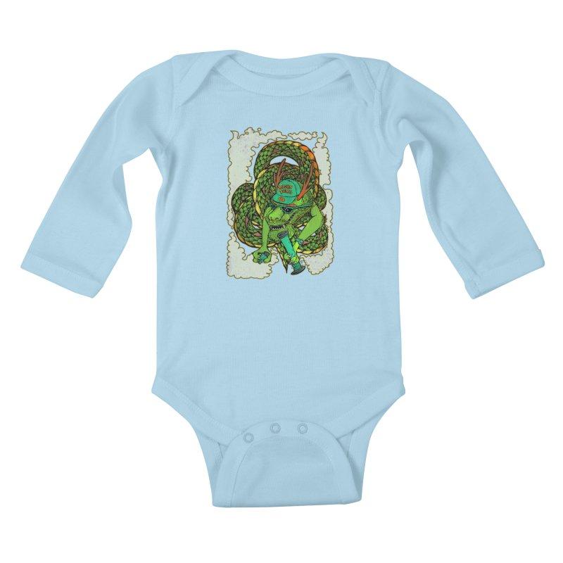 DRAGON BONG Kids Baby Longsleeve Bodysuit by miskel's Shop