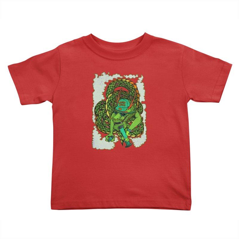 DRAGON BONG Kids Toddler T-Shirt by miskel's Shop