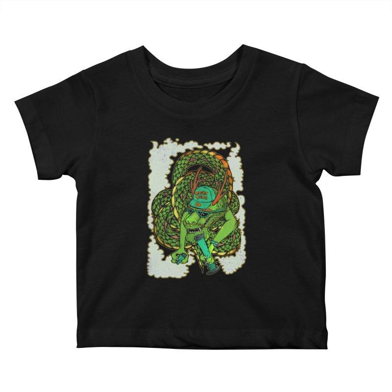 DRAGON BONG Kids Baby T-Shirt by miskel's Shop