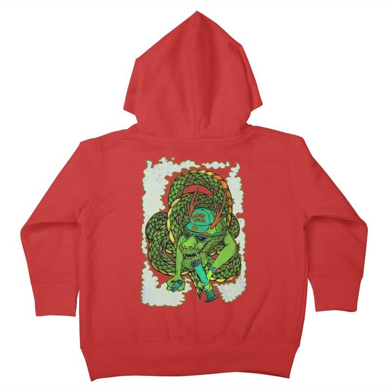 DRAGON BONG Kids Toddler Zip-Up Hoody by miskel's Shop