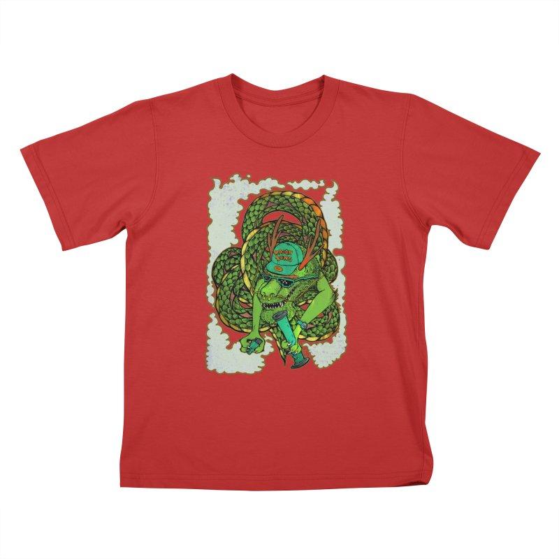 DRAGON BONG Kids T-Shirt by miskel's Shop