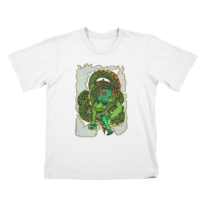 DRAGON BONG Kids T-Shirt by miskel's Shop