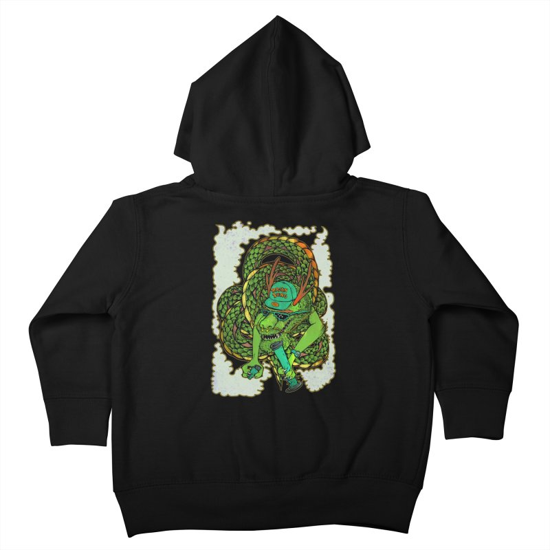DRAGON BONG Kids Toddler Zip-Up Hoody by miskel's Shop
