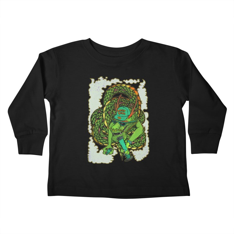 DRAGON BONG Kids Toddler Longsleeve T-Shirt by miskel's Shop