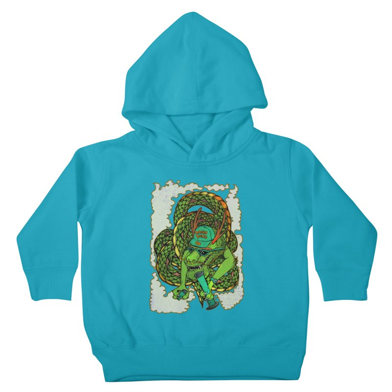 DRAGON BONG Kids Toddler Pullover Hoody by miskel's Shop