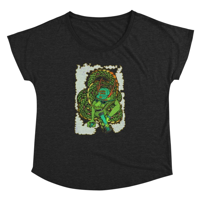 DRAGON BONG Women's Dolman Scoop Neck by miskel's Shop