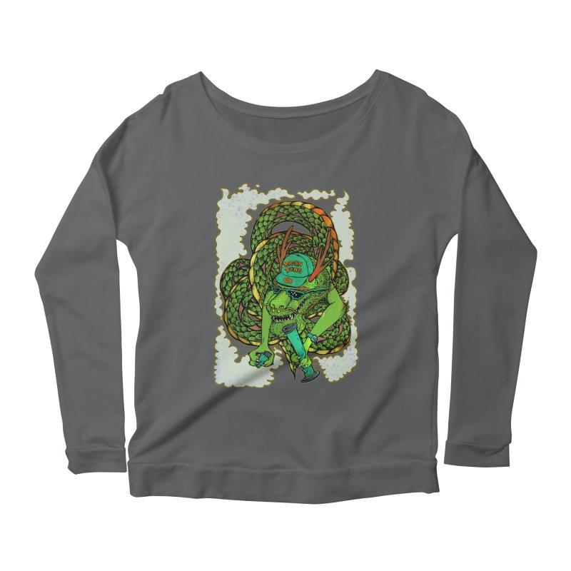DRAGON BONG Women's Scoop Neck Longsleeve T-Shirt by miskel's Shop
