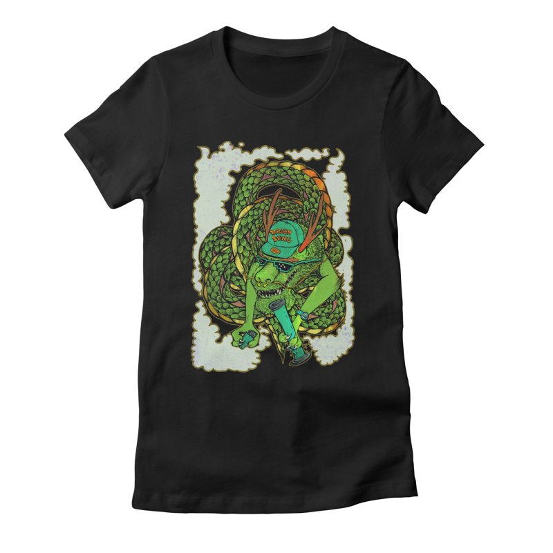 DRAGON BONG Women's Fitted T-Shirt by miskel's Shop