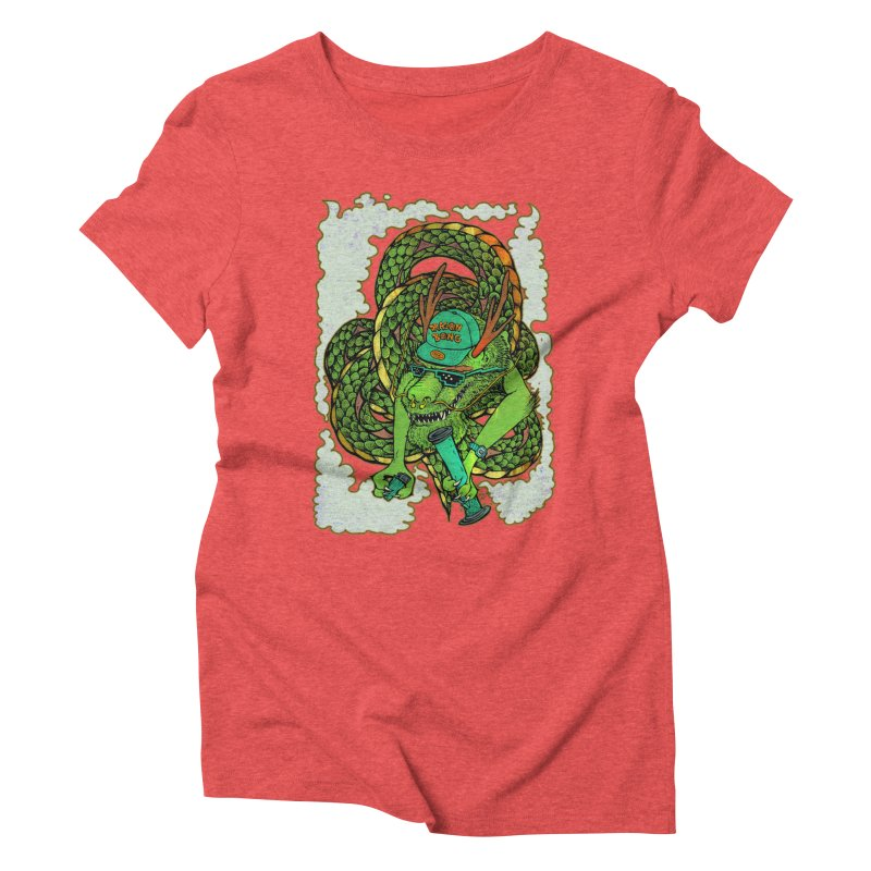 DRAGON BONG Women's Triblend T-Shirt by miskel's Shop