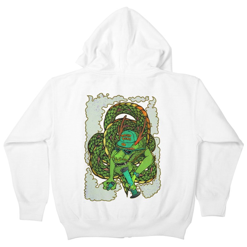 DRAGON BONG Kids Zip-Up Hoody by miskel's Shop