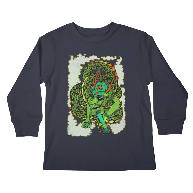 DRAGON BONG Kids Longsleeve T-Shirt by miskel's Shop