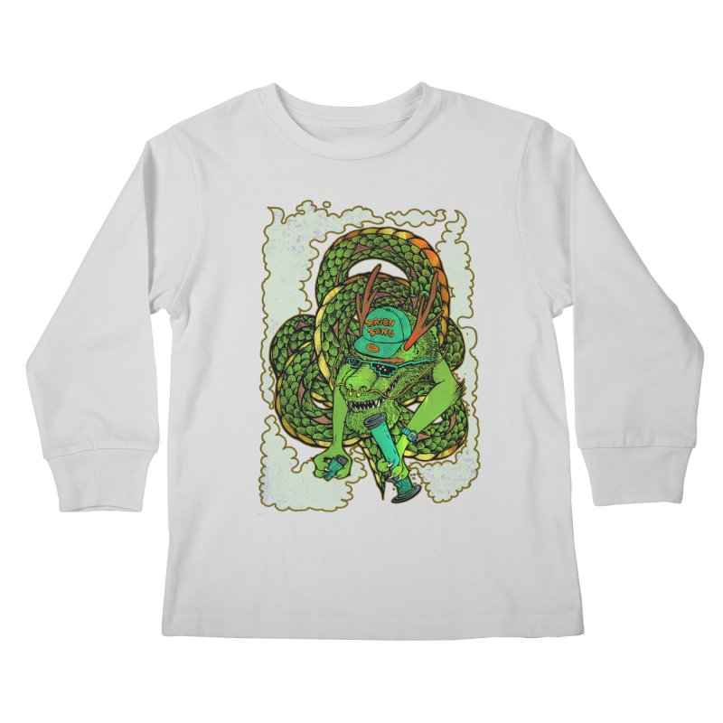DRAGON BONG Kids Longsleeve T-Shirt by miskel's Shop