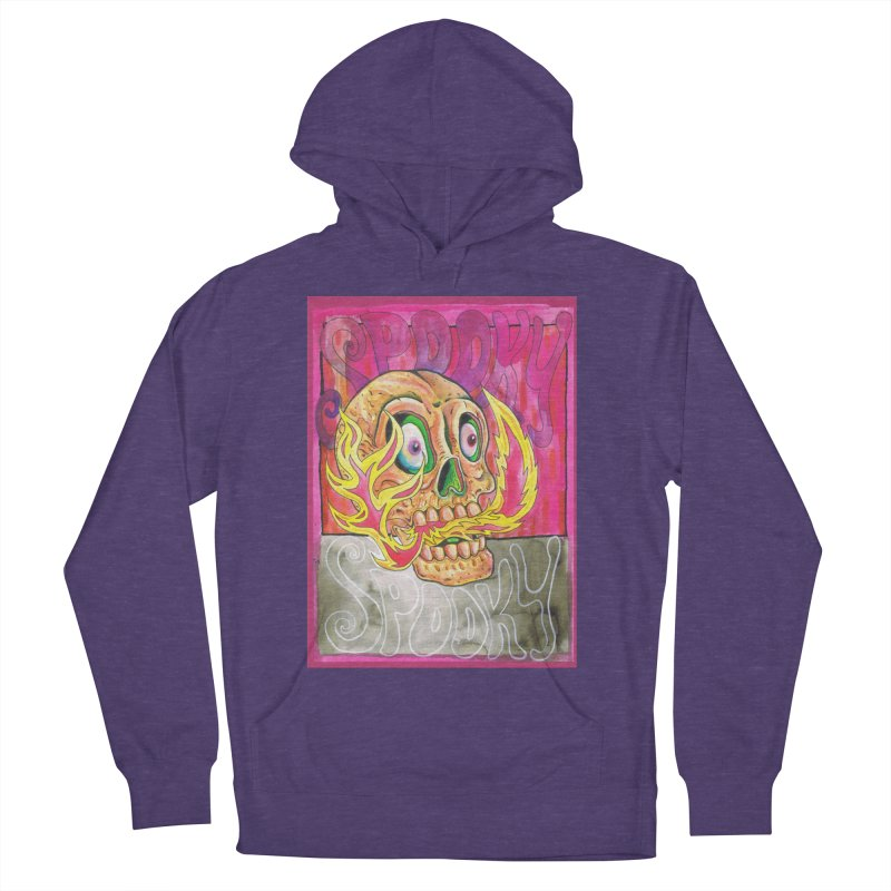 SPOOKY SPOOKY Men's French Terry Pullover Hoody by miskel's Shop